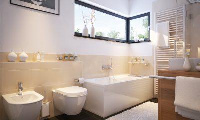 Kleines Badezimmer in Einfamilienhaus
